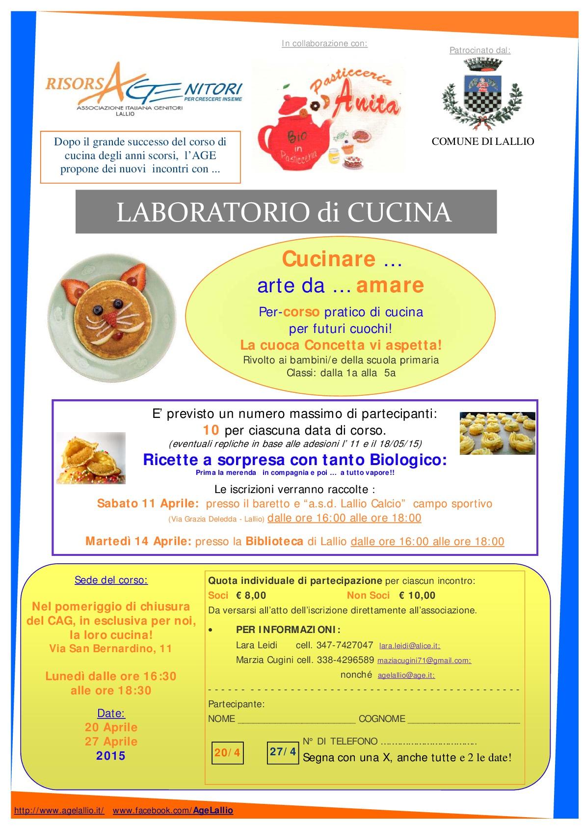 2015 terza edizione del laboratorio di cucina per bambini « a.ge ... - Laboratorio Di Cucina